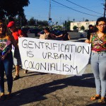 Highland Park community members march and speak up against Gentrification while LA Councilmember Gil Cedillo hosts a Jazz festival